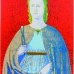 Reprodukcie - Svätá Apollonia červená